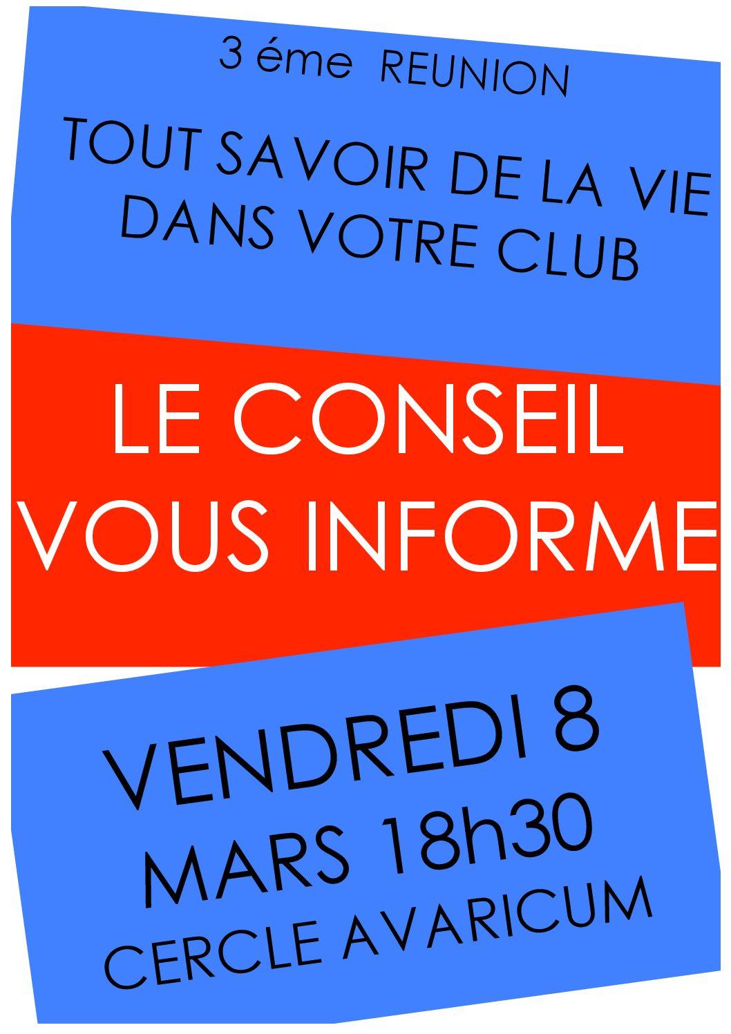 Réunion d'information 8 mars