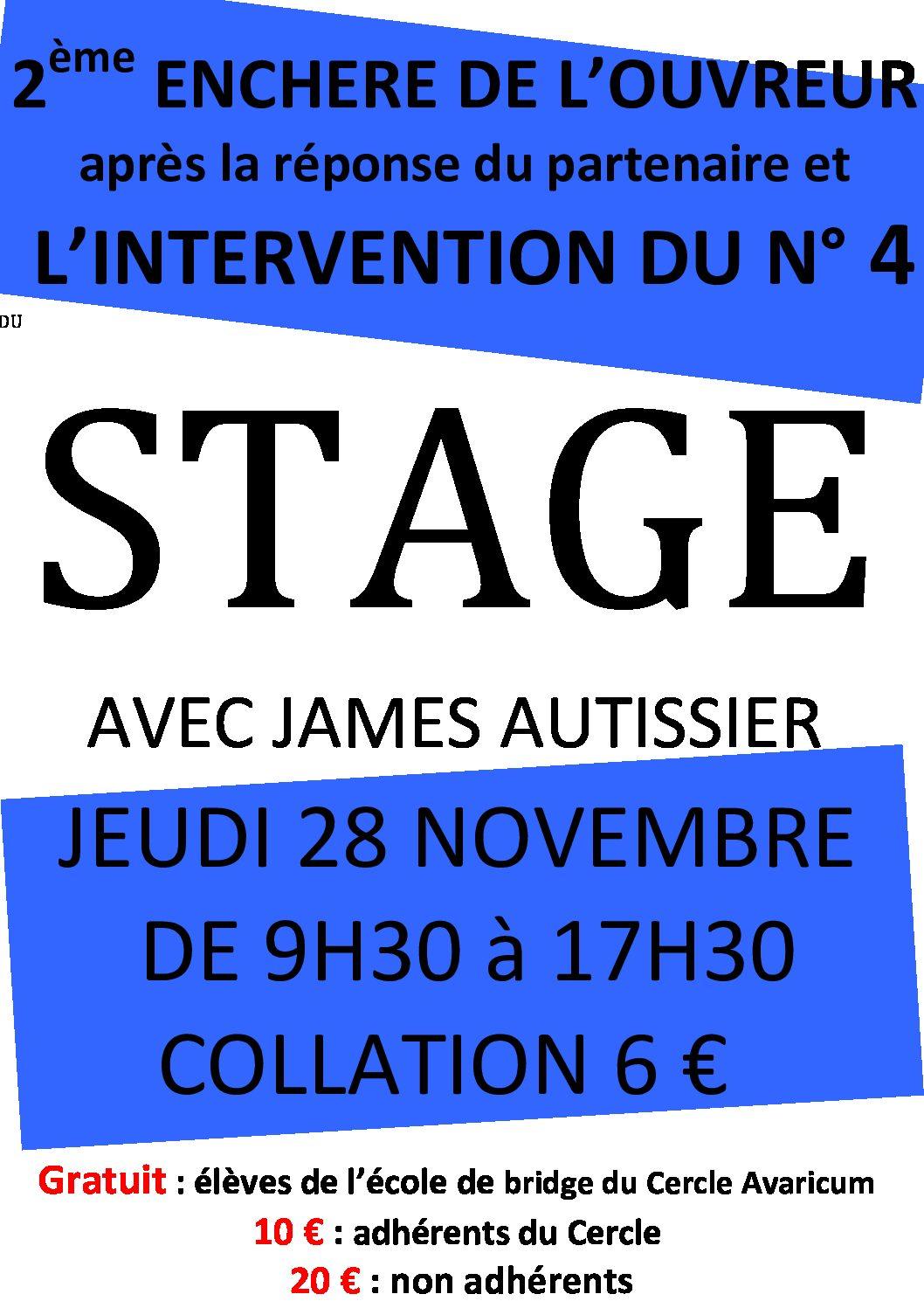 Stage James AUTISSIER