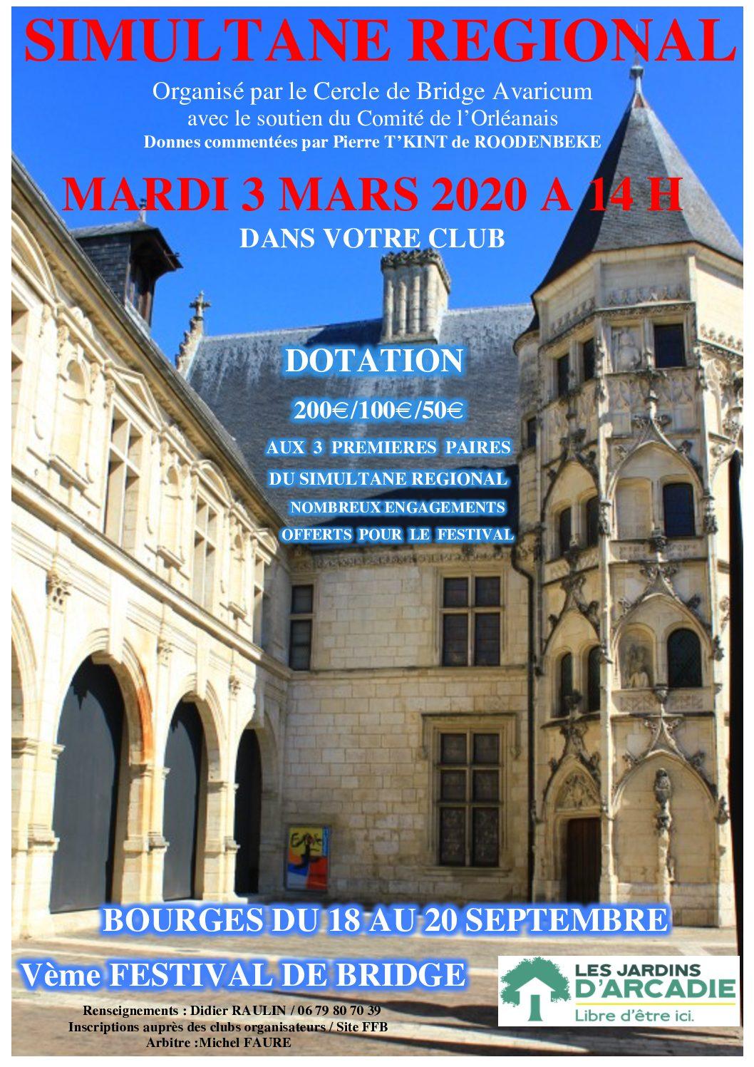 Simultané régional 3 mars 2020