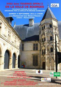 XXXIéme TOURNOI DE LA VILLE DE BOURGES <br> à 14h00 @ Le Restaurant
